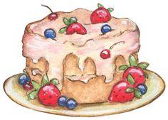 make the plate light blue. Cupcake Art, Cupcake Cookies, Art Qoutes, Sweets Art, Baking Logo, Cream Candy, Kawaii Doodles, Art Birthday, Food Drawing