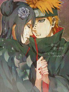 """I love you... I know you can hear me through Pein, Nagato, I love you!"" ""Konan..."""