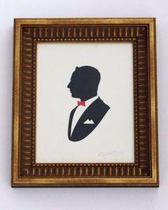 Pee wee Herman silhouette art
