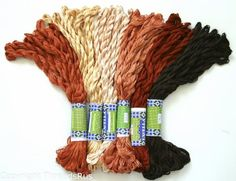 New ThreadNanny 60 Skeins of Silky Hand Embroidery Cross Stitch Floss Threads  BROWN TONES -- Check out the image by visiting the link. (This is an affiliate link and I receive a commission for the sales)