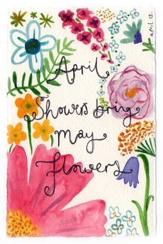 simply-divine-creation:  April showers bring May flowers» Flora Fricker