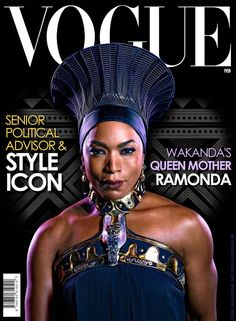Art of Darian: Wakanda's Queen Mother graces the cover of Vogue – Dress Archive Black Panther Marvel, Black Panther 2018, Black Girls Rock, Black Girl Magic, Marvel Universe, Wakanda Marvel, Afro, Queen Mother, My Black Is Beautiful