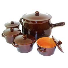 Terracotta Soup Pot & Crock Set with Lids.