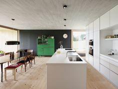 cuisine config îlot et comptoir parallèles