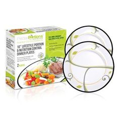 Portion Control Plates Kit from Precise Portions Lunch Dinner Meal Plan Eating Guide to Eat the Right Amount of Food Kids Adults 2 Dishes Healthy Lifestyle Dinnerware Weight Loss Tool ** Be sure to check out this awesome product. Low Fat Diet Plan, Belly Fat Diet Plan, Healthy Food To Lose Weight, How To Lose Weight Fast, Portion Control Plate, Weight Loss Eating Plan, Food Portions, Fast Metabolism Diet, Healthy Eating Habits
