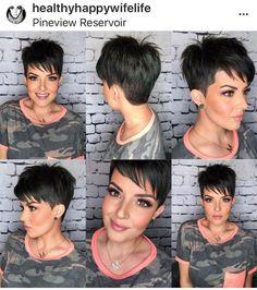 Haircuts For Medium Hair, Haircut For Thick Hair, Short Hair Cuts For Women, Short Hair Styles, Short Choppy Hair, Super Short Hair, Sassy Hair, Mom Hairstyles, Hair Color And Cut
