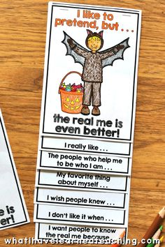 The Real Me Halloween Craftivity Different Halloween Costumes, Halloween Math, Learning Activities, Activities For Kids, Classroom Activities, Teaching Social Skills, Teaching Resources, Teaching Ideas, Teaching Second Grade