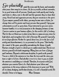 23 Best Desiderata Images Desiderata Words Max Ehrmann