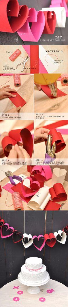 DIY: Paper Heart Garland