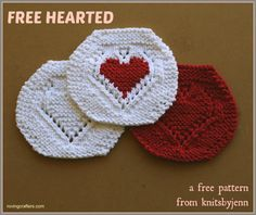 Free Hearted – a free knit pattern for Valentine's Day