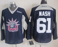 """$34.88 at """"MaryJersey""""(maryjerseyelway@gmail.com) Rangers 61 Rick Nash Navy Blue Practice Stitched NHL Jersey"""