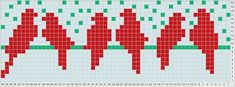 Posts about free cross stitch chart written by Polly Intarsia Knitting, Knitting Charts, Knitting Stitches, Knitting Patterns, Cross Stitch Bird, Cross Stitch Animals, Cross Stitch Embroidery, Crochet Motifs, Crochet Chart