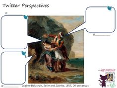The Art Curator for Kids - Character Analysis Art Activity - Twitter Perspectives-Eugène Delacroix, Selim and Zuleika