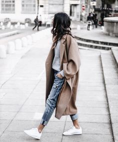 Women Long Outerwear Warm Fashion Coat – Outfit World – All Outfit Ideas For You Winter Trends, Manteau Camel Oversize, Oversized Coat, Oversized Sweaters, Women's Sweaters, Winter Sweaters, Look Fashion, Womens Fashion, Fashion Trends
