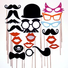 Premium Stiff Felt Photo Booth Props Mustache Pipe by stickprops