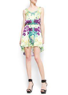 {floral print tail hem tropico dress}