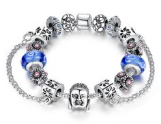 Buddha Silver Bracelet, very chic and high quality
