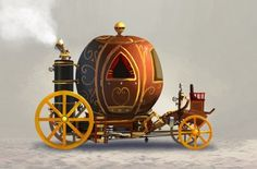 Once Upon A Blog...: Steampunk Fairy Tales - Part I of III CINDERELLA'S COACH CONCEPT by GORO