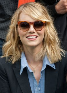 blonde lob with bangs - Google Search