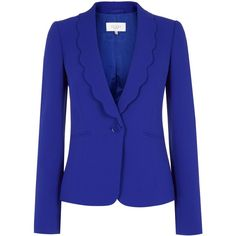 Hobbs Mary suede biker featuring polyvore fashion clothing outerwear jackets blazer bright blue coats & jackets women blue suede jacket hobbs tailored jacket long sleeve jacket suede jacket