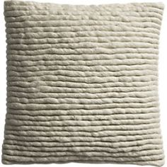 """wool wrap 16"""" pillow with down-alternative insert"""