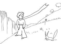 Little Prince Meets the Fox coloring page from Little Prince category. Select from 20946 printable crafts of cartoons, nature, animals, Bible and many more.