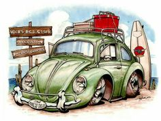 10 Wine And Canvas Ideas Illustrations, Illustration Art, Arte Pink Floyd, Beetle Drawing, Wine And Canvas, Beetle Car, Drawn Art, Hippie Art, Vw Bugs