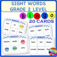 Grade / Year Level :: Primary Education :: Foundation - Year 2 :: POPULAR SIGHT WORDS LISTS GRADE 2 BINGO GAMES CARDS