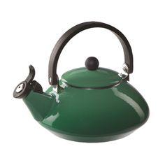 Le Creuset Enameled Steel Zen Tea Kettle, Fennel on Sale Le Creuset Tea Kettle, Zen Tea, Kitchen Helper, Steel House, Slytherin, Shades Of Green, Tea Pots, Fennel, Houses