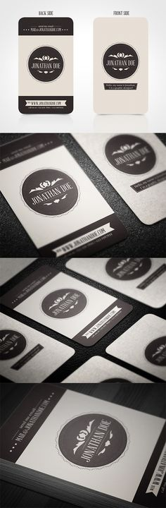 Vintage Business Card by Realstar , via Behance