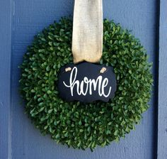 Boxwood Home Wreath / Green Wreath / Spring by SouleHomeDecor