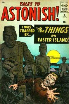 Tales to Astonish - Jack Kirby art & cover, Al Williamson, Steve Ditko art Old Comic Books, Vintage Comic Books, Comic Book Artists, Vintage Comics, Comic Book Covers, Creepy Comics, Horror Comics, Tales To Astonish, Jack Kirby Art