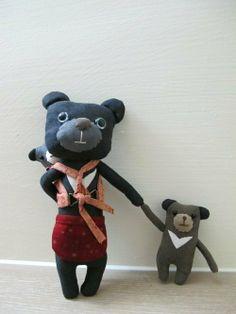 充滿母愛的台灣黑熊媽媽 - arisa doll | Pinkoi
