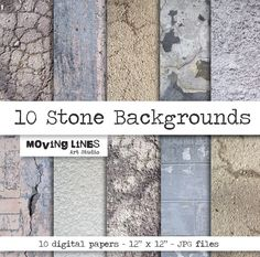 Digital Papers Stone Wall Background 10 digital by MovingLines, $3.90