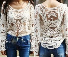 Cream Lace Long Sleeve Crochet Lace Cowgirl Gypsy Top  http://www.cowgirlsuntamed.com/catalog.php?category=15