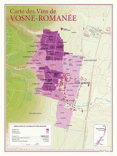 Carte des vins de Vosne-Romanée: Ce document cartographique de format 30 x 40 centimètres, présente de façon extrêmement détaillée (9… Guide Vin, Wine Guide, Wine Folly, Prosecco Cocktails, French Wine, Bacchus, In Vino Veritas, Wine Cheese, Boot Camp