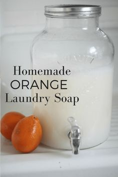 How to Make Homemade Orange Scented Laundry Soap - Farmhouse on Boone