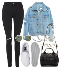 """""""Untitled #649"""" by rguelsah ❤ liked on Polyvore featuring Topshop, Vans, Ray-Ban, Alexander Wang, ASOS, Monica Vinader, Pandora, women's clothing, women's fashion and women"""