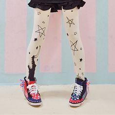 lolita tights stars and moon