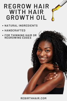 Hair Growth Oil for Thinning or Hair Loss