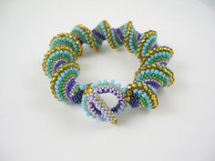Bead East Cellini Spiral - love the colors