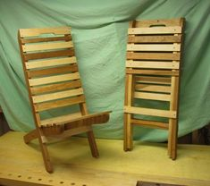 Beach Wood Projects | First, here is one chair set up, with the other chair nested.
