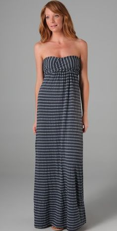 Chambray Stripe Maxi Dress - Lyst