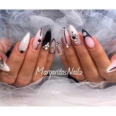 Bling Stiletto Nails - Nail Art Gallery
