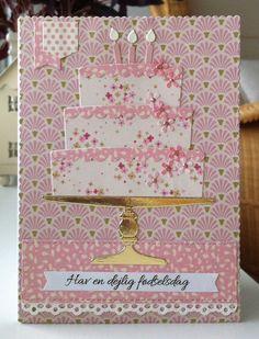 Card cake candles MFT Bring on the Cake Die-namics MFT-502 #mftstamps Happy Birthday Have a Delicious Day  MFT Blueprints 31 element : sentiment label banner - Tilda Apple Bloom  paper pad Apple Bloom design collection #tilda - kort kage lagkage lys fødselsdag tilllykke - JKE