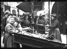1er mai 1911 à Paris - Vente du muguet