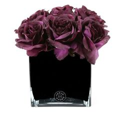 Silk Flower Bouquets, Silk Flowers, Fabric Flowers, Artificial Flowers And Plants, Fake Flowers, Lilac Living Rooms, Fake Flower Arrangements, Glass Cube, Purple Home