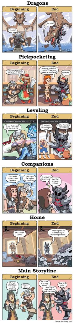 skyrim beginning vs end