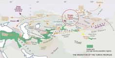 Türklerin Göçleri Haritası