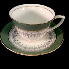 Regency Flat Cup And Saucer Royal Worcester 1966 Sage Green And Grey Z2730 Tea | Pottery & Glass, Pottery & China, China & Dinnerware | eBay!